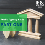 New Public Agency Laws on Safety, Finance, Contracting and More