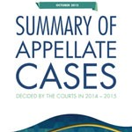 Summary of Appellate Cases Decided by the Courts in 2014-2015